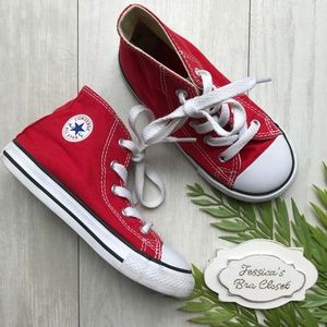 CONVERSE Chuck Taylor All Star Hi Top Red Sneaker